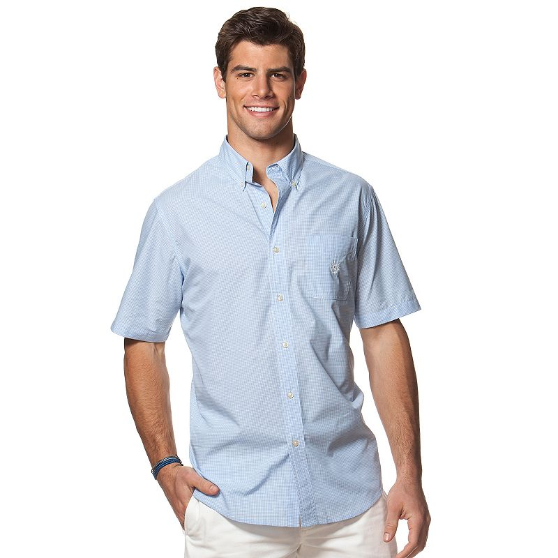 Men's Chaps Classic-Fit Tattersall Poplin Easy-Care Button-Down Shirt