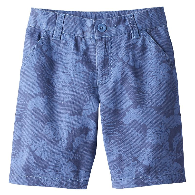 Boys 4-7x SONOMA Goods for Life™ Tropical Palm Twill Shorts
