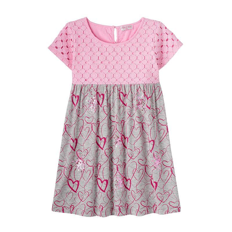 Girls 4-6x Design 365 Sequin Hearts Dress
