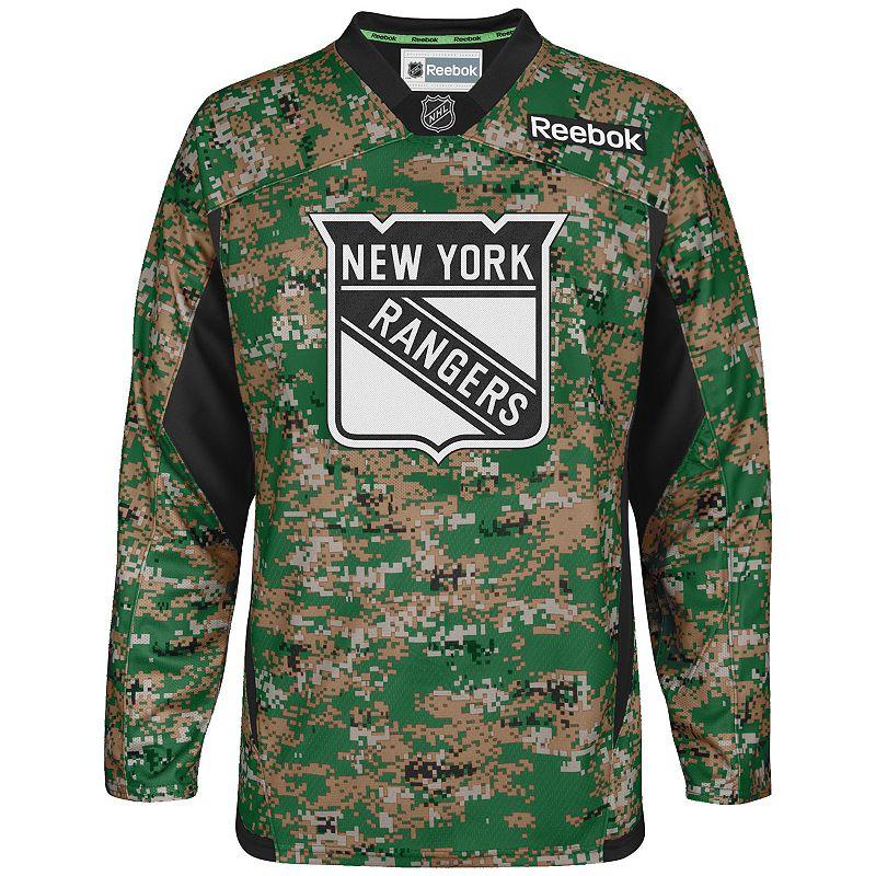 Men's Reebok New York Rangers Camo Jersey