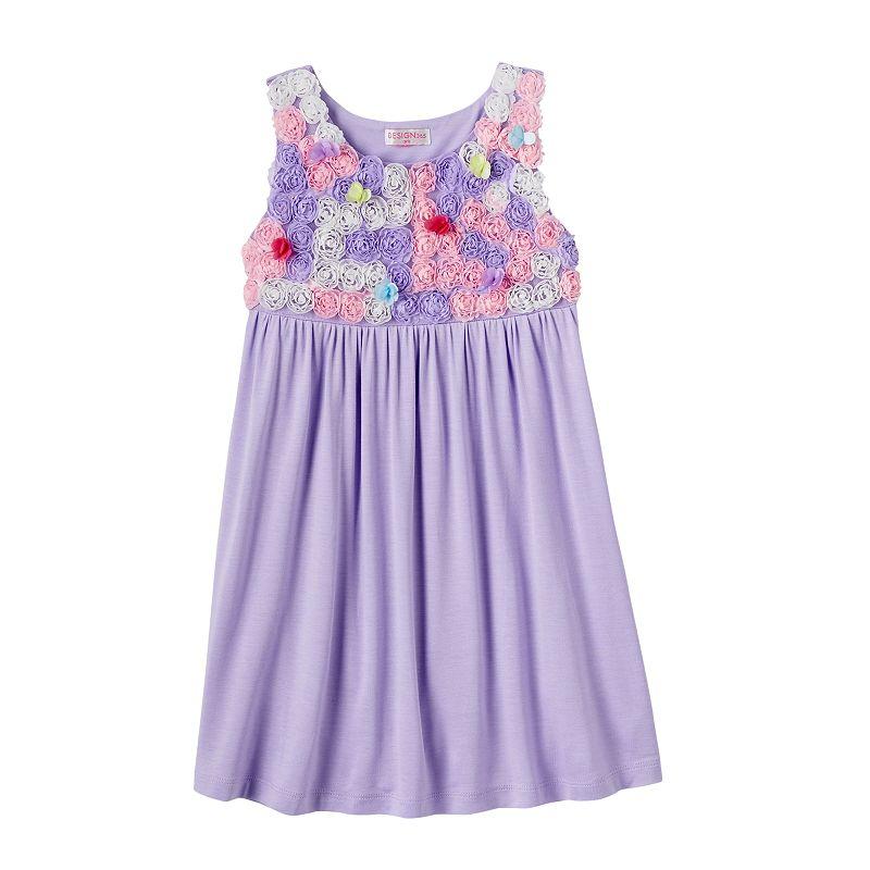 Girls 4-6x Design 365 Rosette Dress