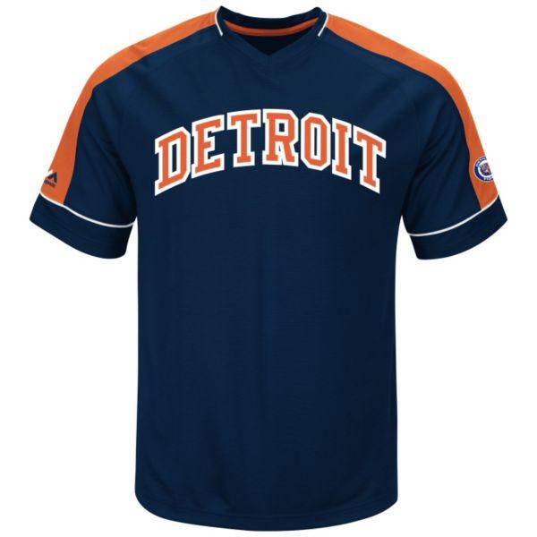 Men's Majestic Detroit Tigers Cooperstown Winning Tandem Tee