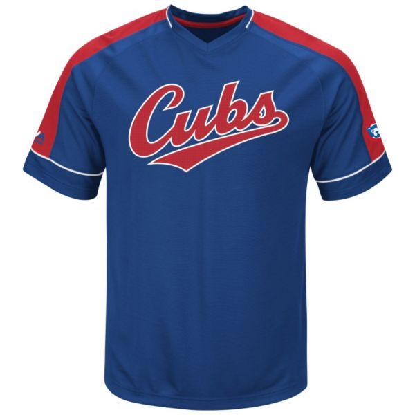 Men's Majestic Chicago Cubs Cooperstown Winning Tandem Tee