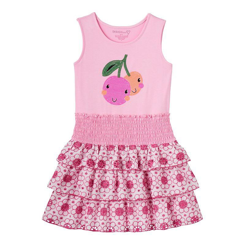 Girls 4-6x Design 365 Sequin Cherry Dress
