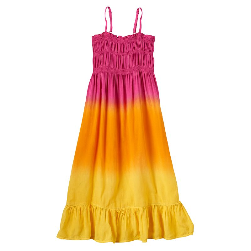 Girls 4-6x Design 365 Smocked Ombre Maxi Dress
