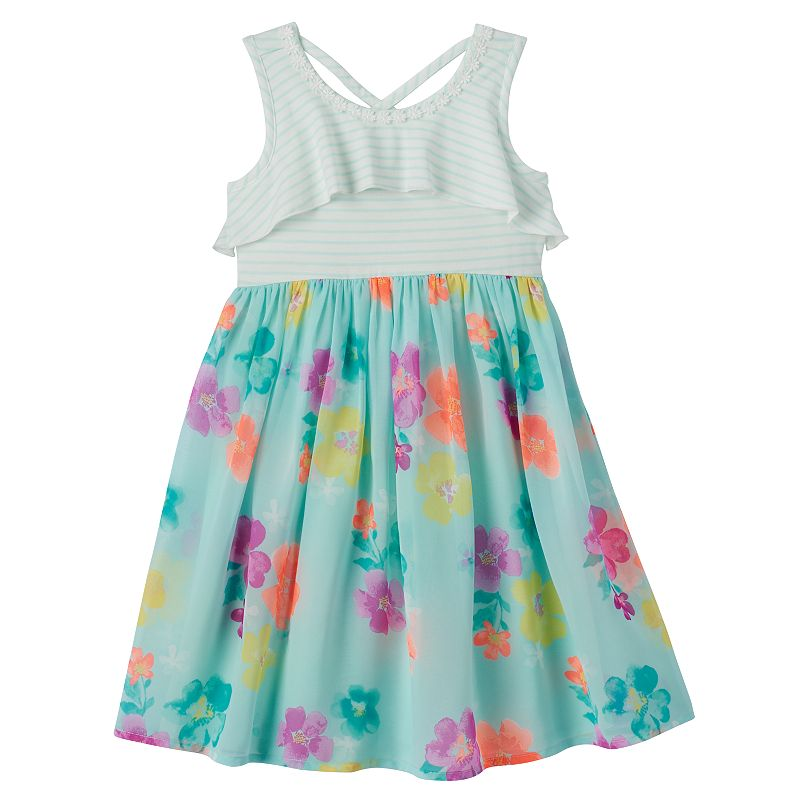 Girls 4-7 SONOMA Goods for Life™ Striped Criss-Cross Back Dress