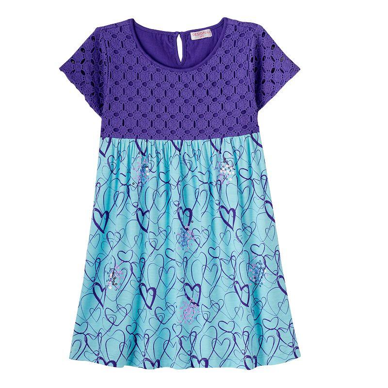 Toddler Girl Design 365 Sequin Hearts Dress