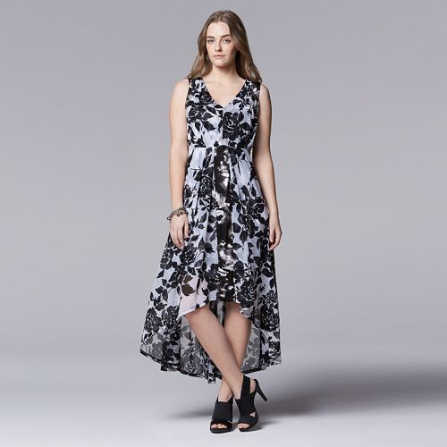 With Paypal Cheap Price Vera Wang Printed Maxi Dress Brand New Unisex For Sale Outlet Locations Sale Online J1HnYX