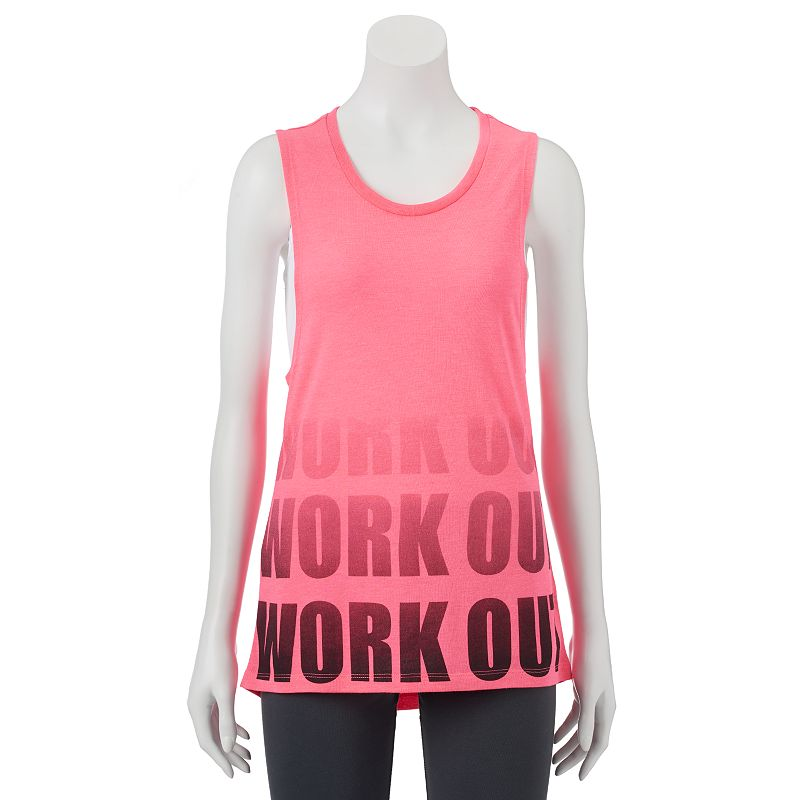 SO® Juniors' Graphic Muscle Tank