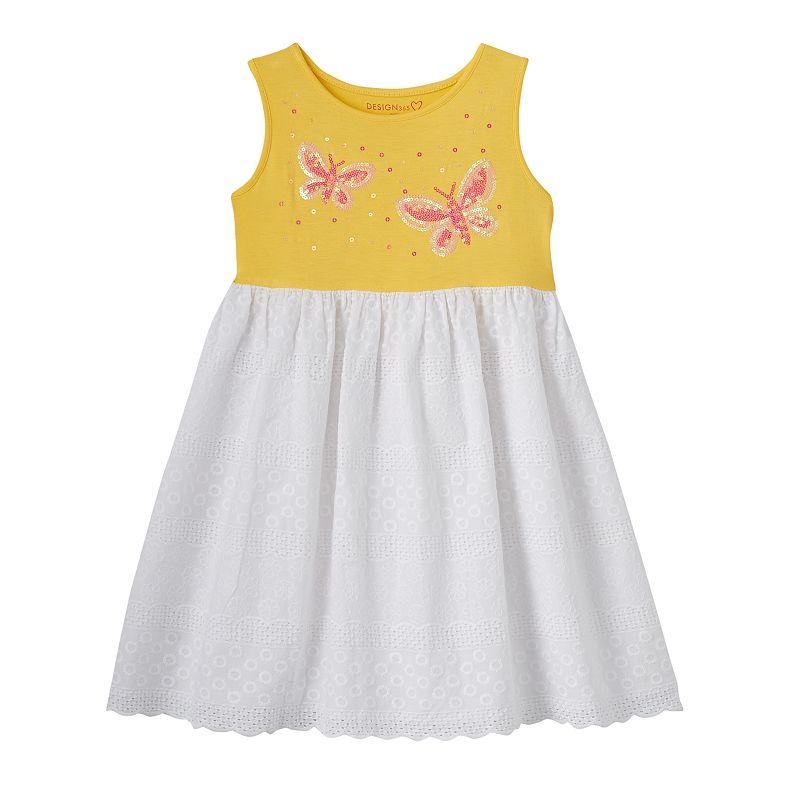 Toddler Girl Design 365 Sequin Butterfly Eyelet Dress