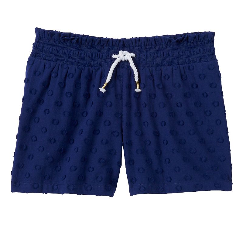 Girls 4-7 SONOMA Goods for Life™ Swiss Dot Knit Navy Shorts
