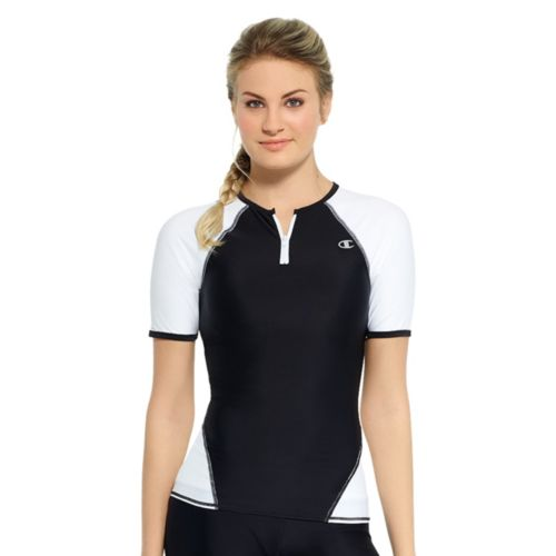 Women's Champion Colorblock Quarter-Zip Rash Guard
