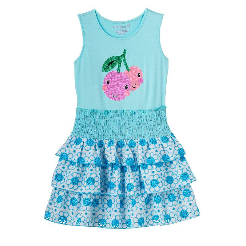 Toddler Girl Design 365 Sequin Cherry Dress