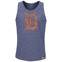 Men's Majestic Detroit Tigers Hours to Hours Tank Top