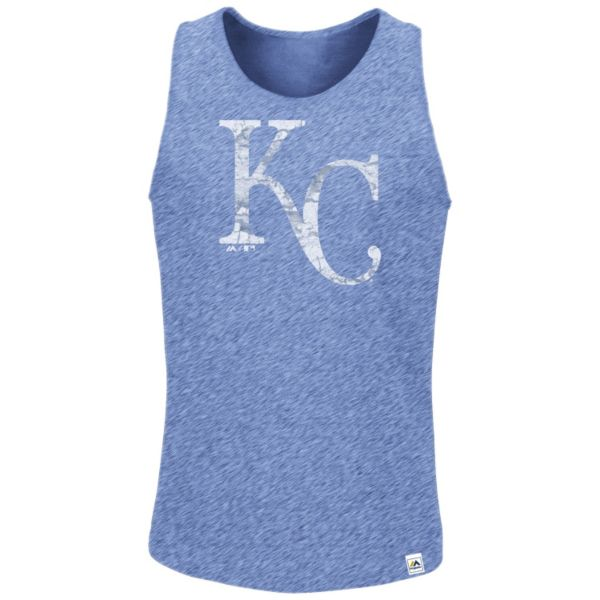 Men's Majestic Kansas City Royals Hours to Hours Tank Top