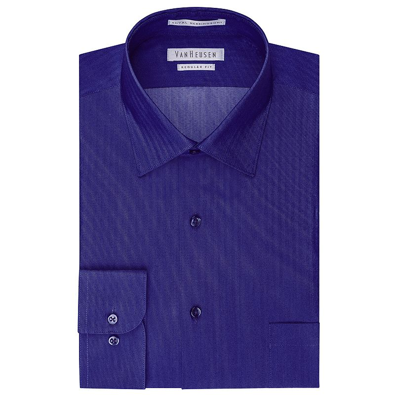 Men's Van Heusen Herringbone Spread Collar Dress Shirt