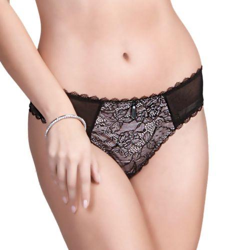 Women's Affinitas Clarissa Sheer Lace Thong Panty 754