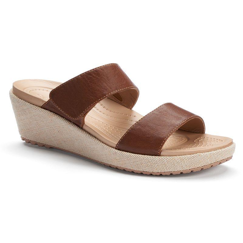 Crocs A-leigh Women's Mini Wedge Sandals