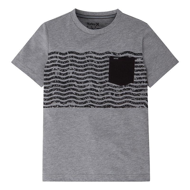 Boys 4-7 Hurley Gray Wave Pocket Tee