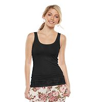 Juniors' SO® Perfectly Soft Double Scoop Tank Top