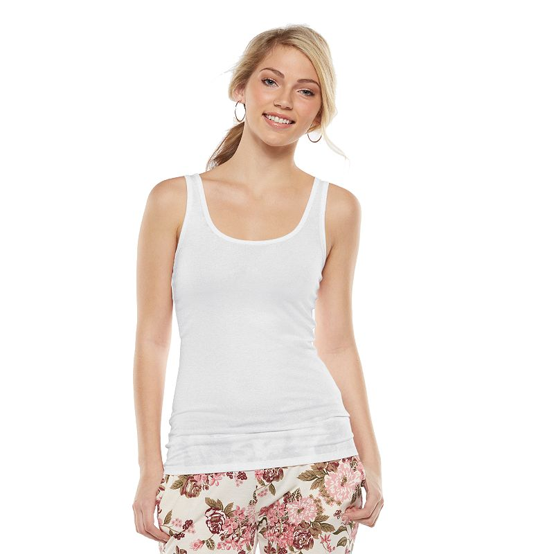 Juniors' SO® Double Scoop Tank Top