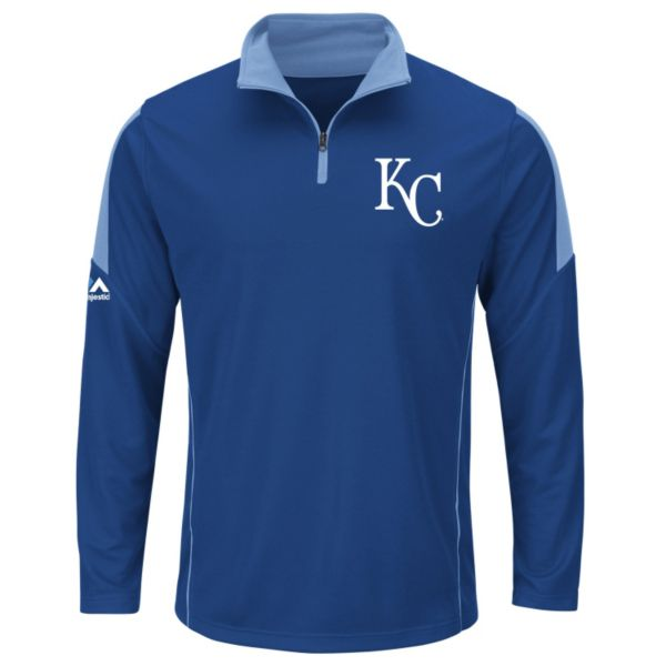Men's Majestic Kansas City Royals Status Inquiry Mock neck Pullover