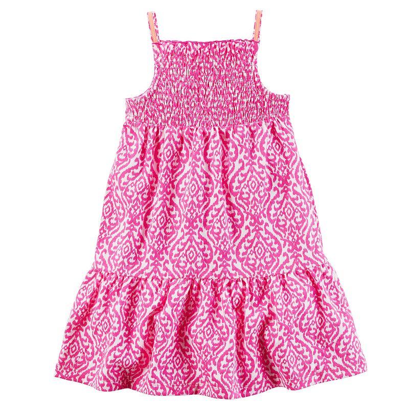 Girls 4-8 Carter's Smocked Knit Dress