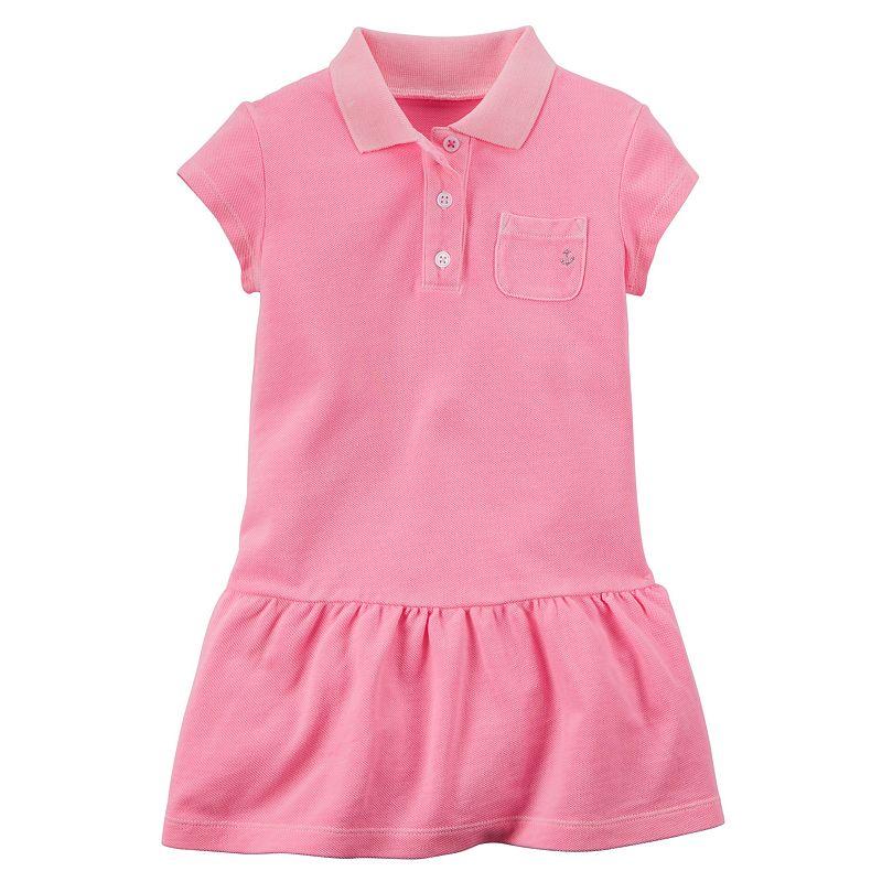 Girls 4-8 Carter's Drop-Waist Polo Dress