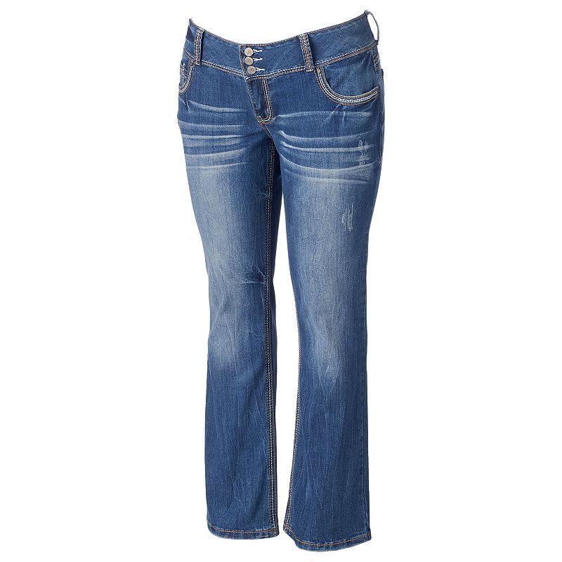 Juniors' Plus Size Amethyst Bootcut Jeans