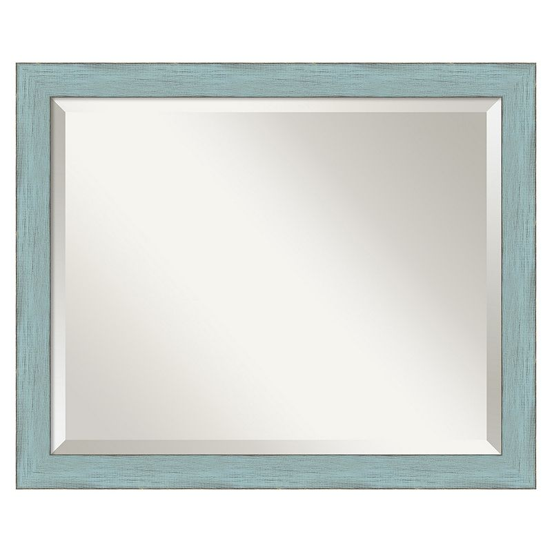 Rustic Beveled Wall Mirror