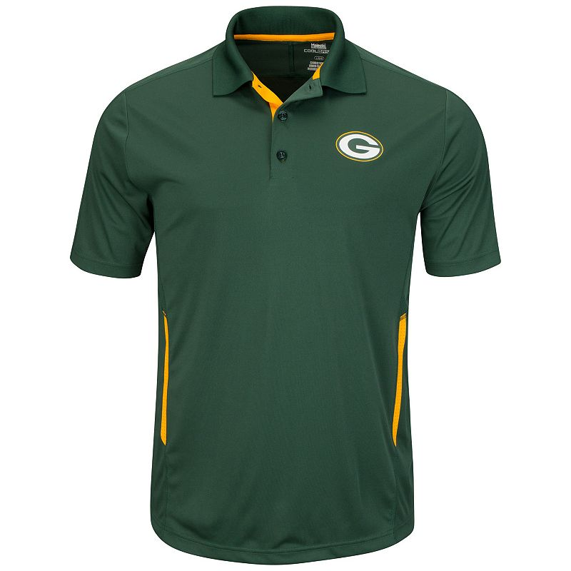 Men's Majestic Green Bay Packers Field Classic Polo