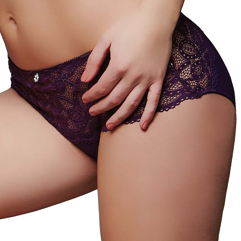 Montelle Intimates Keyhole Sheer Lace Boyshort Panty 9203