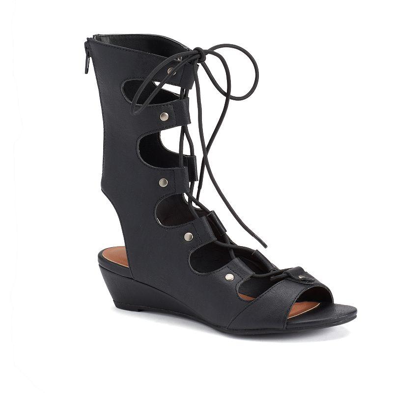 sugar Alba Women's Wedge Gladiator Sandals