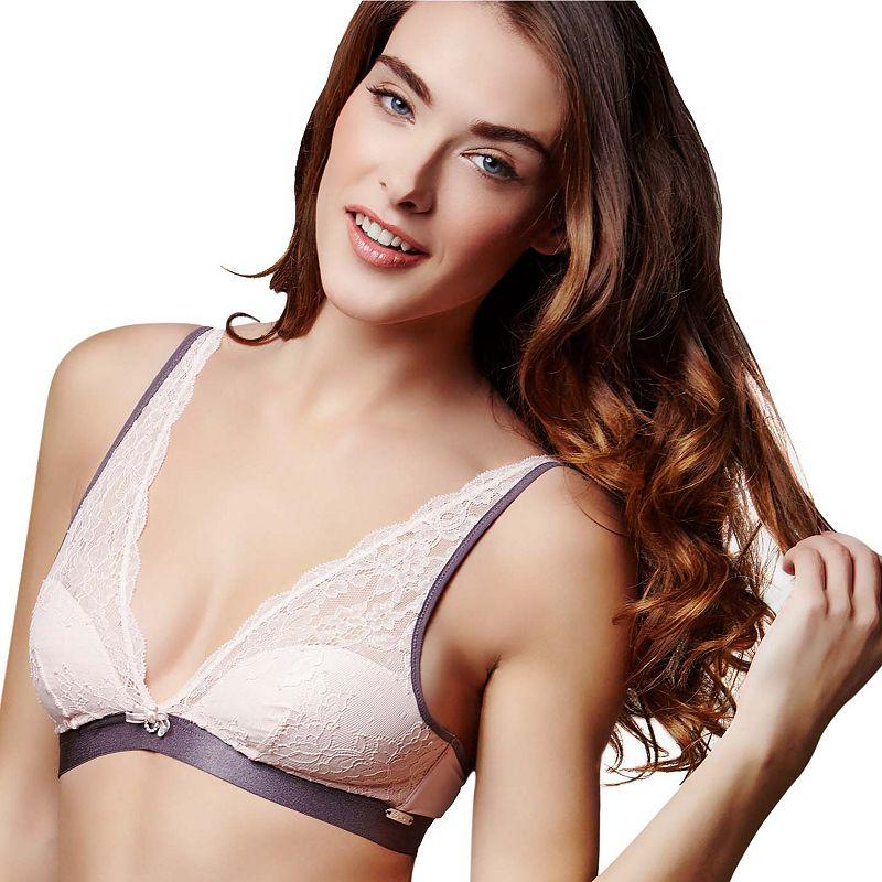 Montelle Intimates Bra: Daydream Wire-Free Lace Bralette 9234