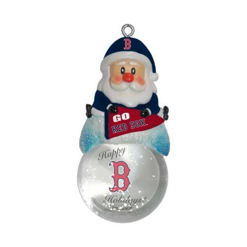 Boston Red Sox Santa Snow Globe Ornament
