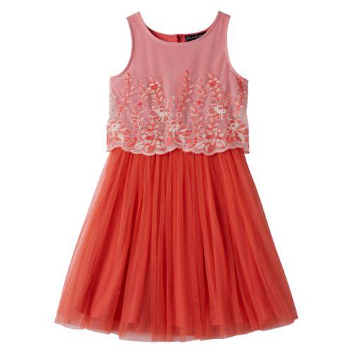 Girls 7-16 Disorderly Kids Floral Tulle Dress
