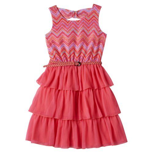 Girls 7-16 Disorderly Kids Lace Layered Dress
