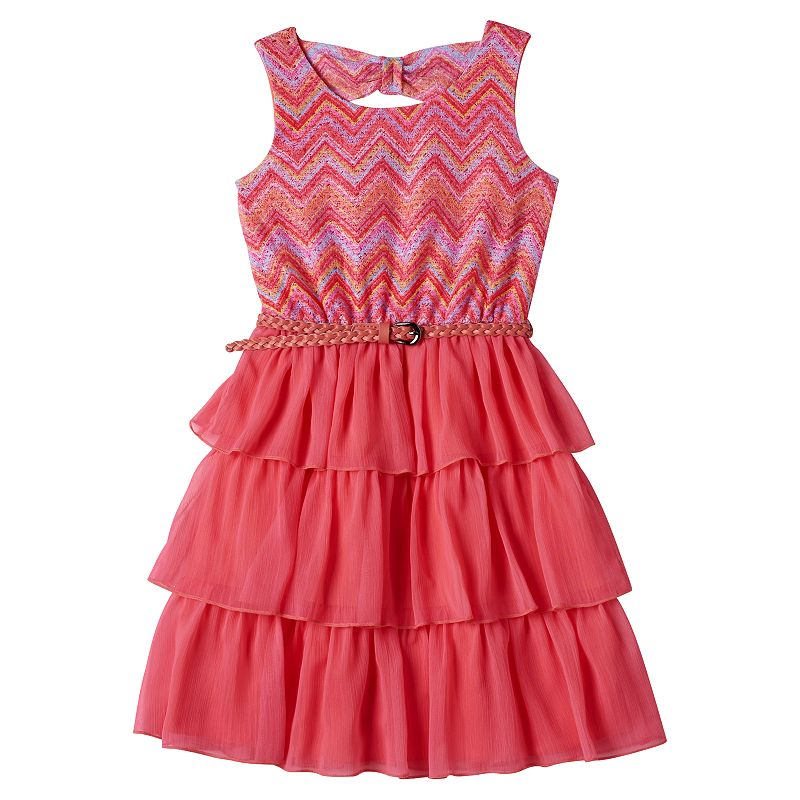 Girls 7-16 Disorderly Kids Lace Layered Dress