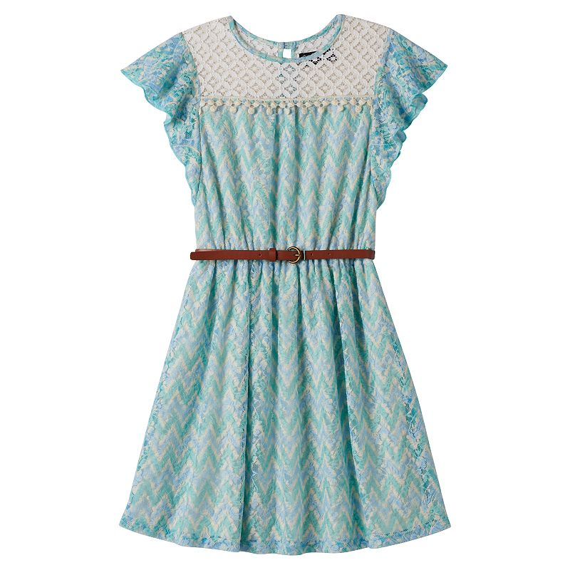 Girls 7-16 Disorderly Kids Crochet-Yoke Dress