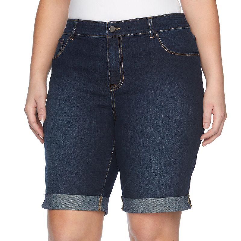 Plus Size Apt. 9® Cuffed Jean Bermuda Shorts