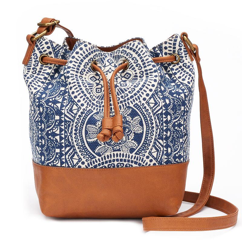 SONOMA Goods for Life™ Medallion Drawstring Bucket Crossbody Bag