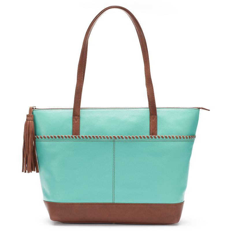 ili Leather Woven Tote