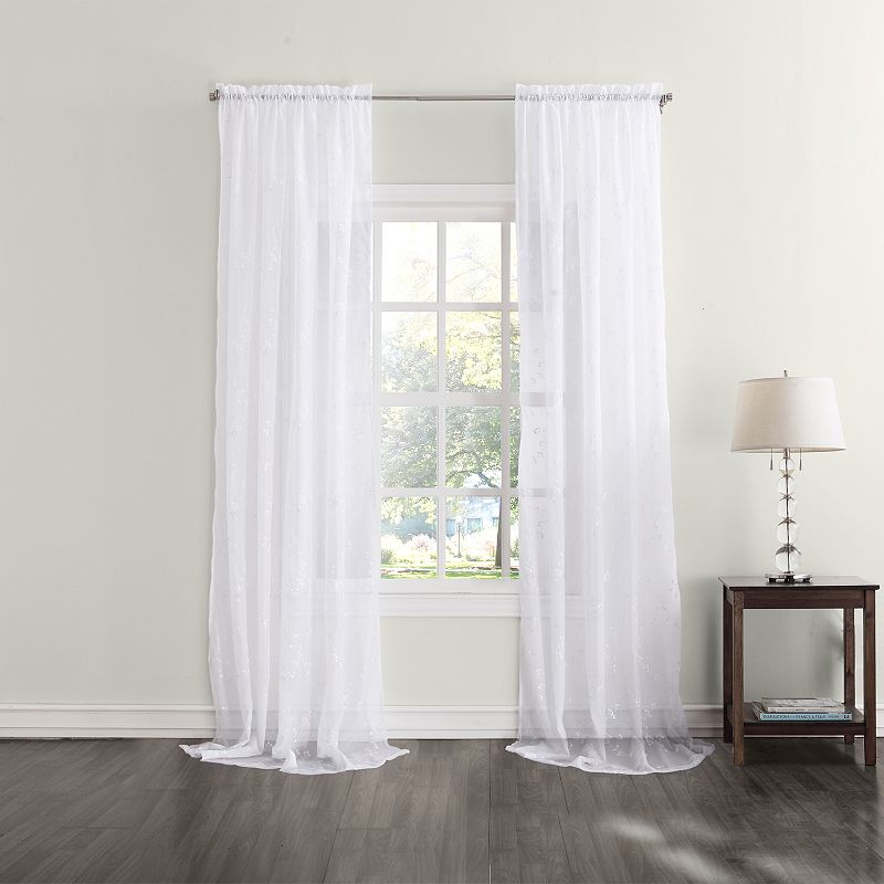 Home Classics® Loralai Sheer Voile Curtain