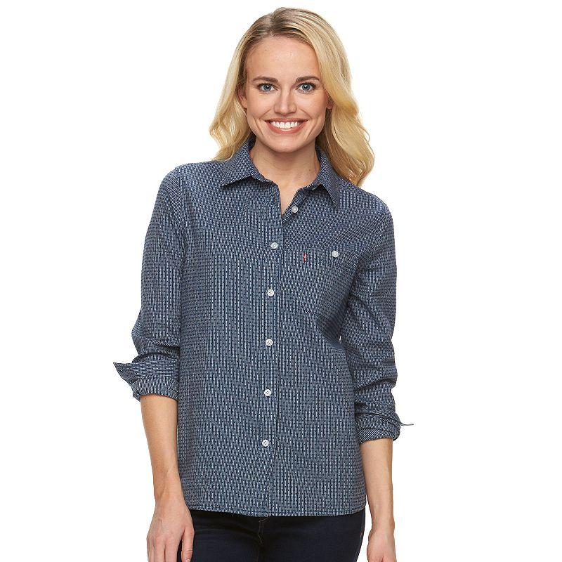 Women's Levi's Classic Boyfriend Dobby Dot Shirt