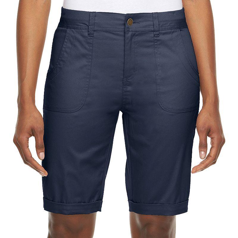Women's Croft & Barrow® Classic Fit Twill Bermuda Shorts