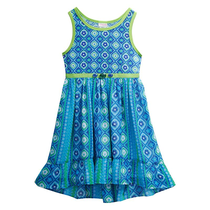 Girls 4-6x Youngland Floral Chiffon High-Low Dress
