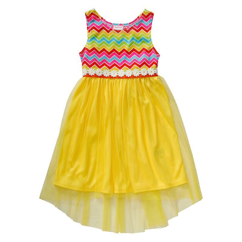 Girls 4-6x Youngland Chevron High-Low Tulle Dress