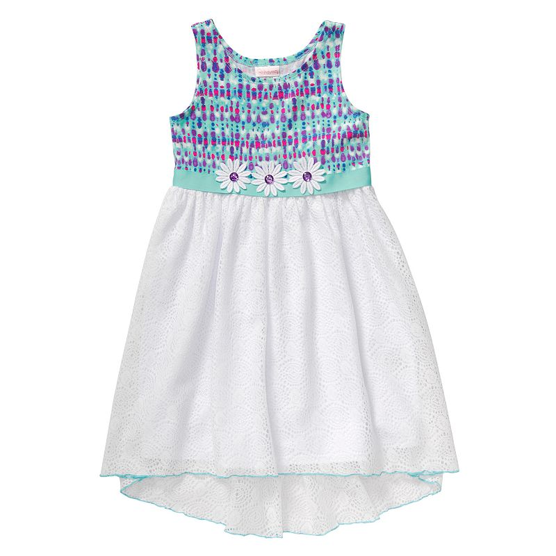 Girls 4-6x Youngland Crochet Knit High-Low Dress