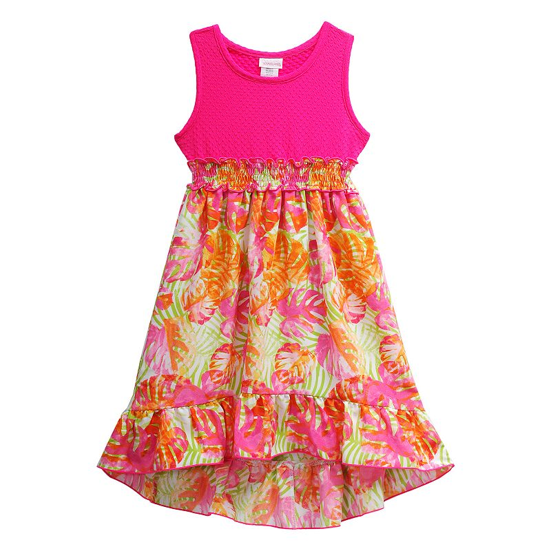 Girls 4-6x Youngland Tropical High-Low Dress