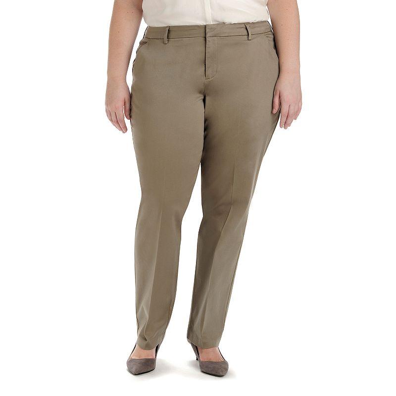Plus Size Lee Rennie Twill Straight-Leg Pants